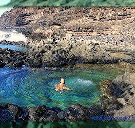 Honolulu attractions - warm bath